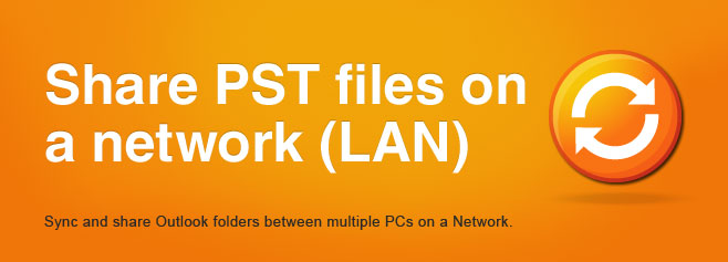 Sync Outlook folders between multiple PCs on a Network.
